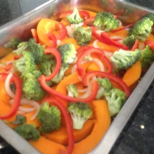 Tulips butternut and broccoli bake