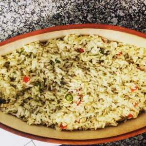 Tulip's fresh chilli and mushroom rice
